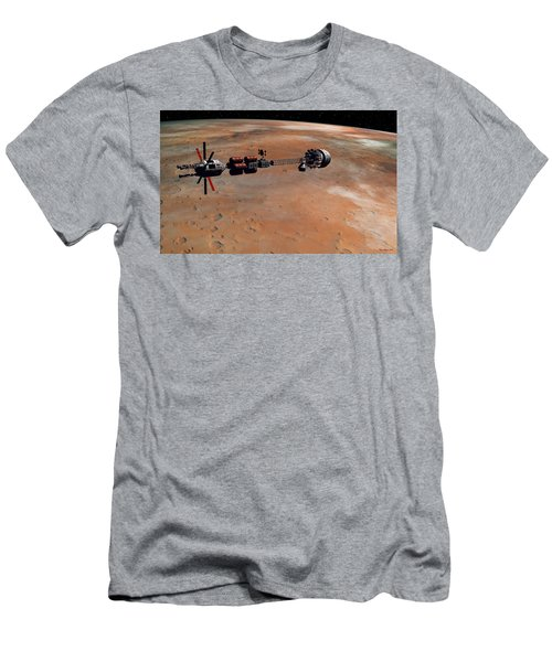 Men's T-Shirt (Slim Fit) featuring the digital art Hermes1 Orbiting Mars by David Robinson