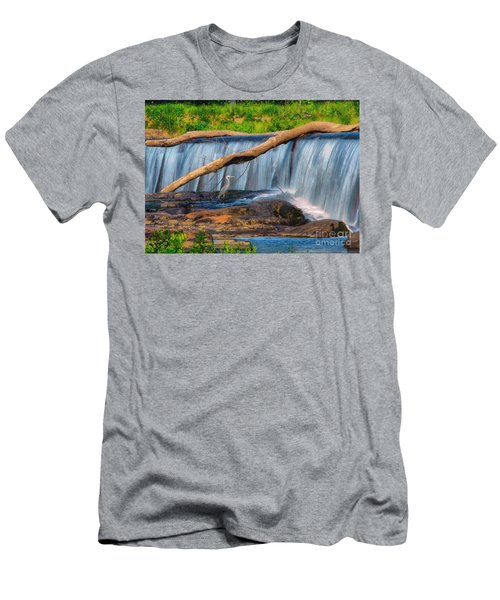 Heron On The Rocks Men's T-Shirt (Athletic Fit)