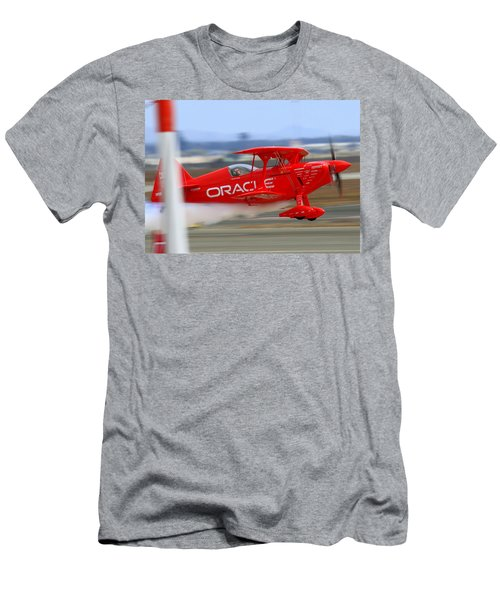 Hi Speed Low Pass By Sean Tucker At Salinas Ksns Air Show Men's T-Shirt (Athletic Fit)