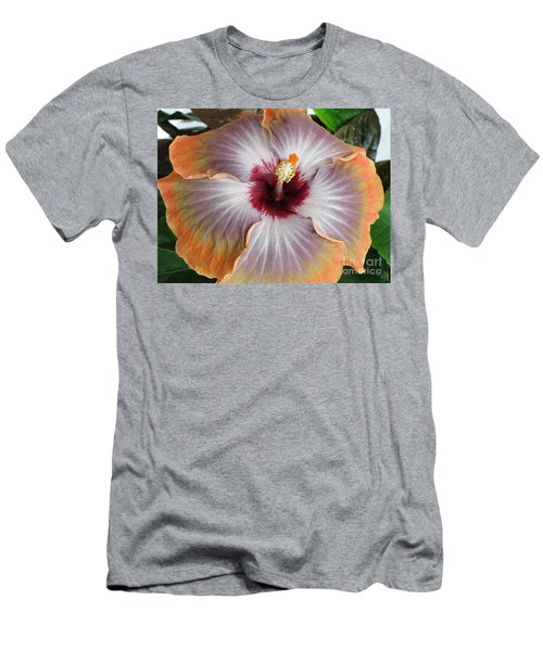 Hibiscus  Men's T-Shirt (Slim Fit) by Jennifer Wheatley Wolf