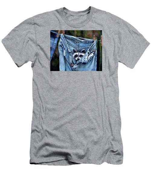 Hiding In My Jeans Men's T-Shirt (Slim Fit) by Donna Tucker