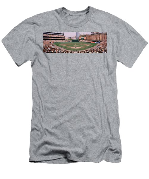 High Angle View Of A Baseball Field Men's T-Shirt (Slim Fit) by Panoramic Images