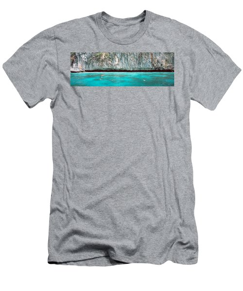 High Angle View Of Three People Men's T-Shirt (Athletic Fit)