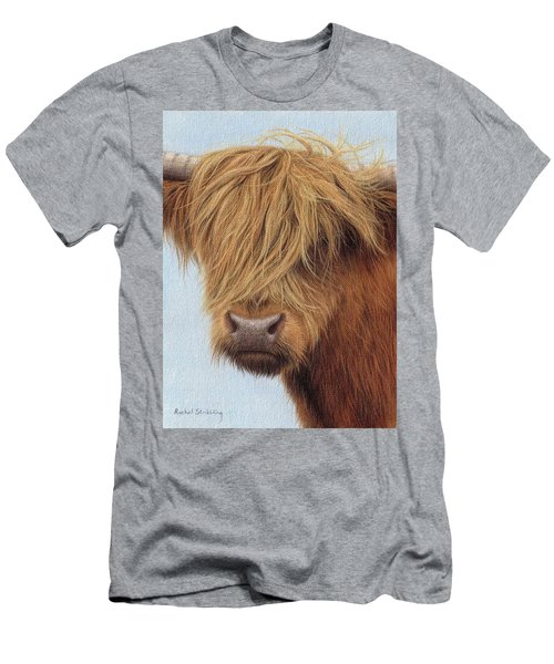 Highland Cow Painting Men's T-Shirt (Athletic Fit)