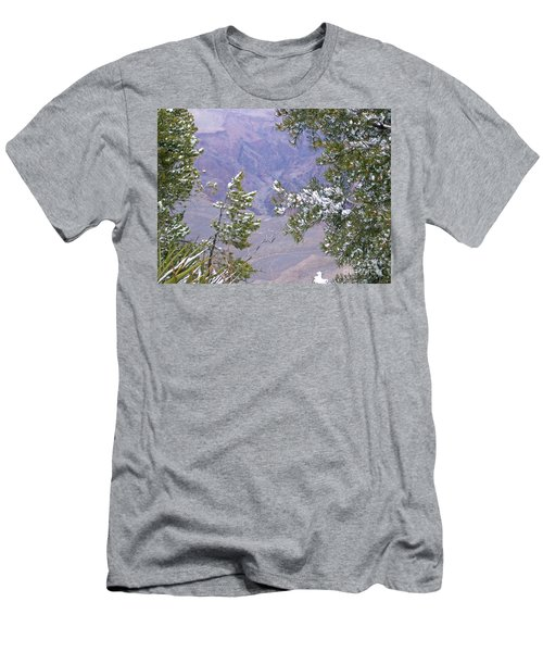 Men's T-Shirt (Slim Fit) featuring the photograph Highlighting Snow by Roberta Byram