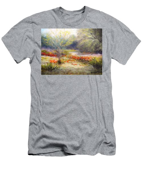 Hill Country Wildflowers Men's T-Shirt (Slim Fit) by Patti Gordon