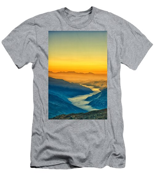 Himalaya In The Morning Light Men's T-Shirt (Athletic Fit)