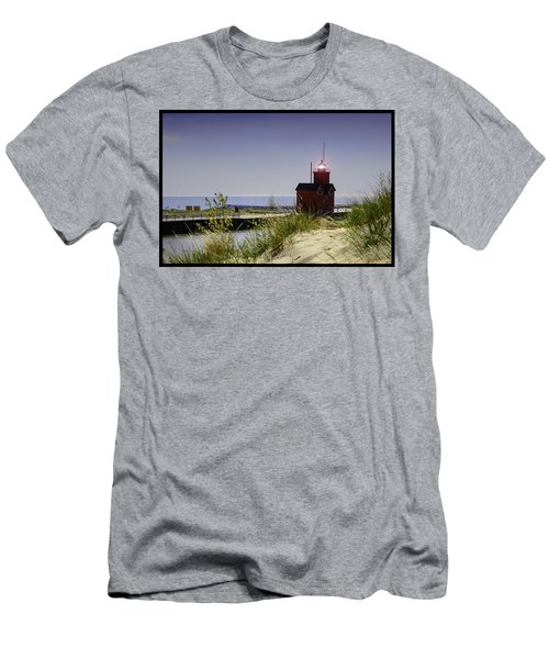 Holland Harbor Light  Men's T-Shirt (Athletic Fit)