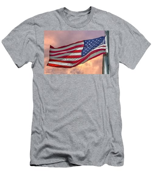 Men's T-Shirt (Slim Fit) featuring the photograph Honoring The Heroes  by Charlotte Schafer