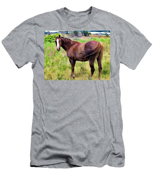 Men's T-Shirt (Slim Fit) featuring the photograph Horse 5 by Dawn Eshelman