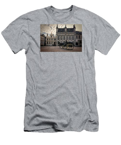 Horse And Carriage Men's T-Shirt (Slim Fit) by Joan Carroll