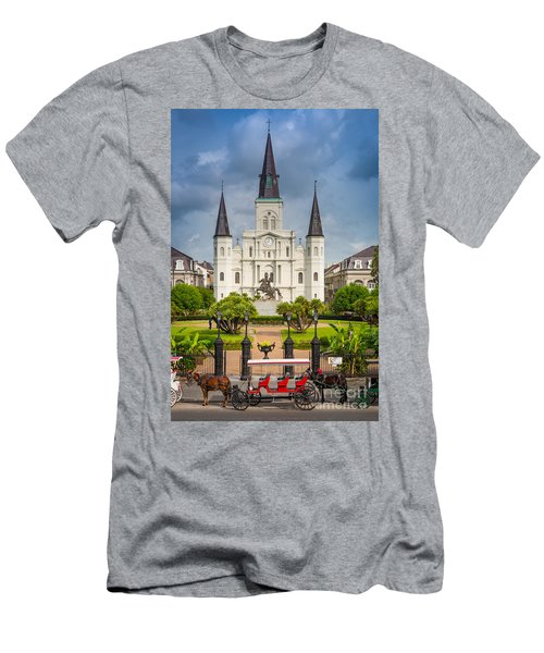 Horse Carriage At Jackson Square Men's T-Shirt (Athletic Fit)