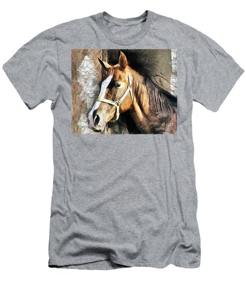 Horse Portrait - Drawing Men's T-Shirt (Athletic Fit)