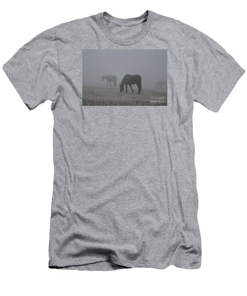 Horses In The Morning Fog Men's T-Shirt (Athletic Fit)