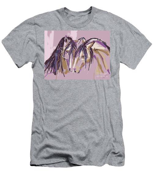 horses Purple pair Men's T-Shirt (Athletic Fit)