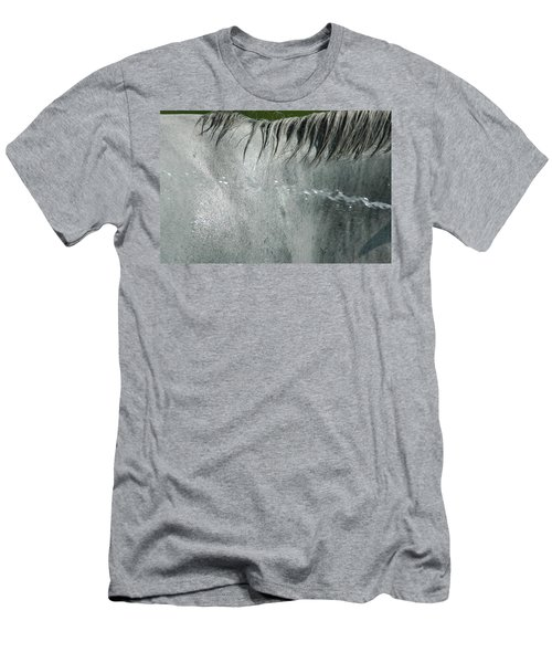 Cooling Down White Horse Men's T-Shirt (Slim Fit) by Phil Cardamone