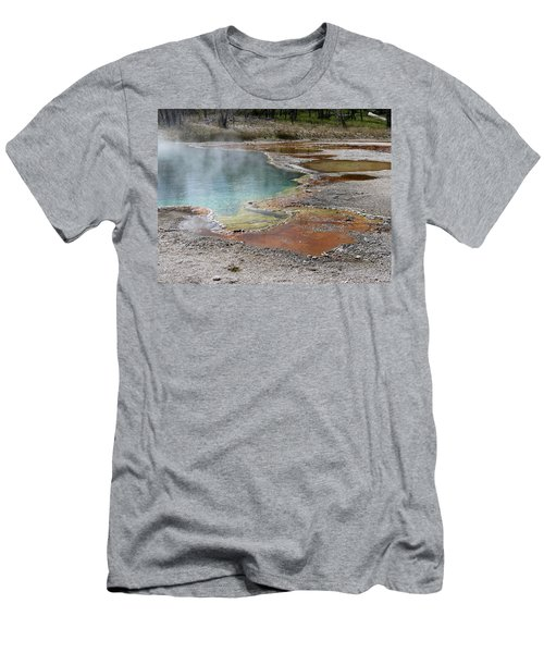 Men's T-Shirt (Slim Fit) featuring the photograph Hot Water At Yellowstone by Laurel Powell