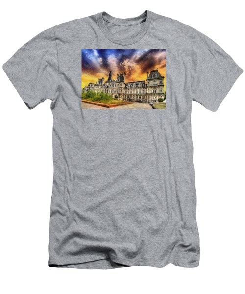 Men's T-Shirt (Slim Fit) featuring the photograph Sunset At The Hotel De Ville by Charmaine Zoe