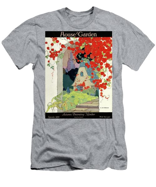 House And Garden Autumn Decorating Number Men's T-Shirt (Athletic Fit)