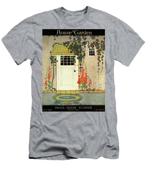 House And Garden Small House Number Cover Men's T-Shirt (Athletic Fit)