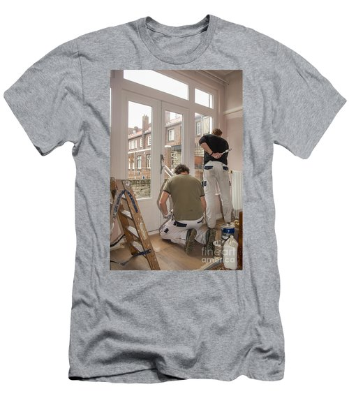 House Painters At Work Men's T-Shirt (Athletic Fit)