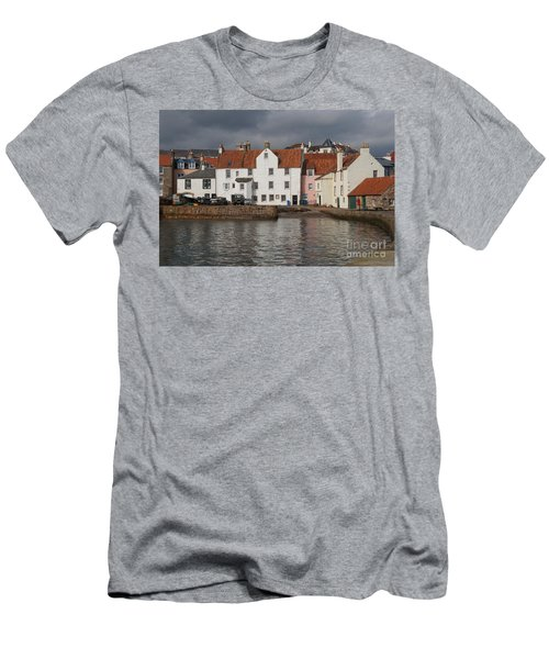 Houses At Pittenweem Harbor Men's T-Shirt (Athletic Fit)
