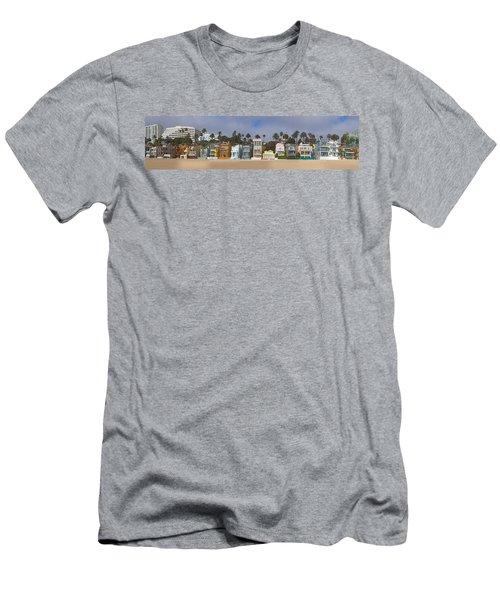 Houses On The Beach, Santa Monica, Los Men's T-Shirt (Athletic Fit)