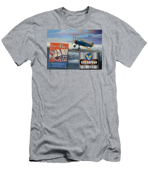 How To Fly Stearman Pt-17 Men's T-Shirt (Athletic Fit)