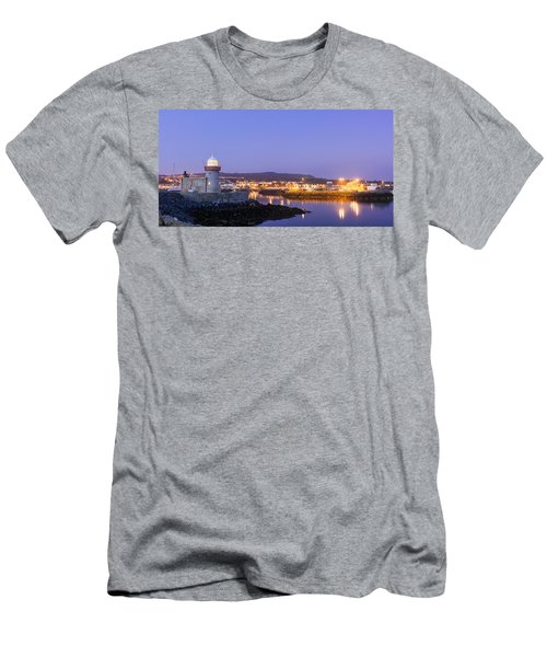 Howth Harbour Lighthouse Men's T-Shirt (Slim Fit) by Semmick Photo