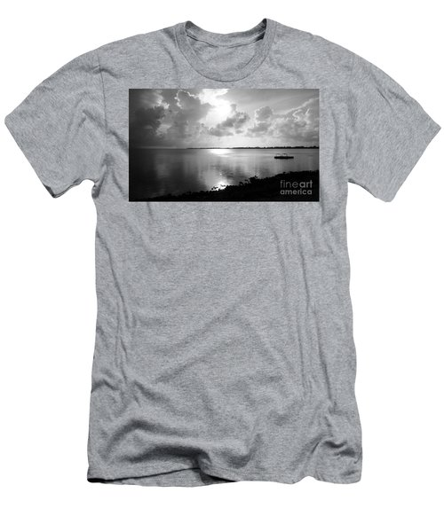 Hurry Sundown Men's T-Shirt (Slim Fit) by Amar Sheow