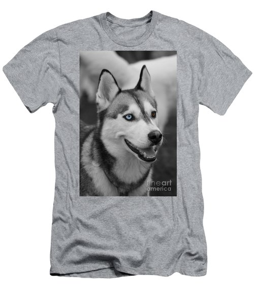 Men's T-Shirt (Slim Fit) featuring the photograph Husky Portrait by Vicki Spindler