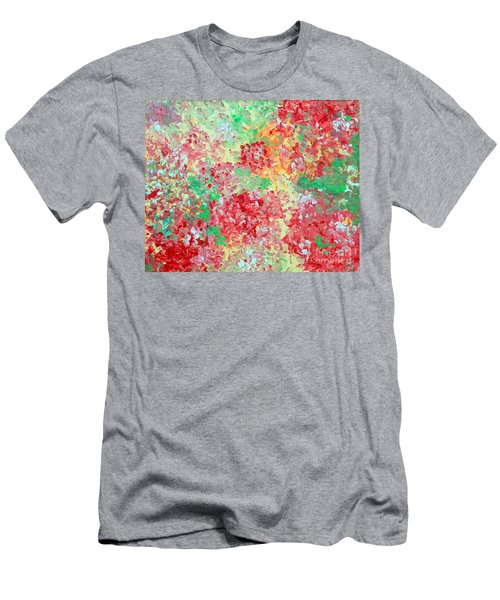 Men's T-Shirt (Slim Fit) featuring the painting Hydrangeas II by Alys Caviness-Gober