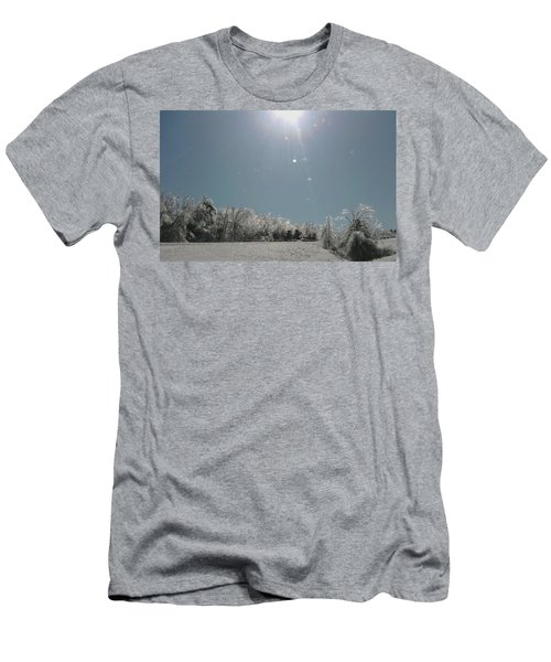Men's T-Shirt (Slim Fit) featuring the photograph Ice Kissed by Ellen Levinson