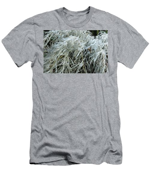 Ice On Bamboo Leaves Men's T-Shirt (Athletic Fit)
