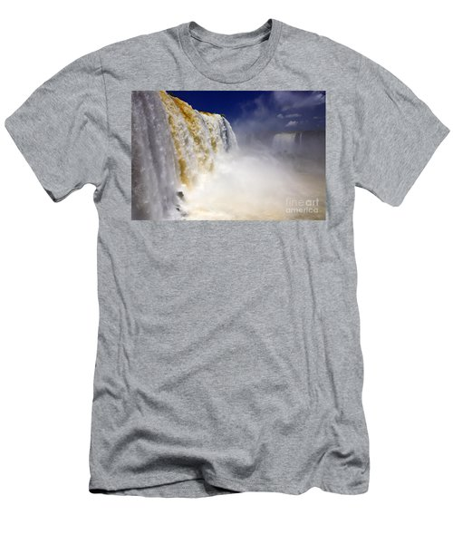 Iguazu Falls I Men's T-Shirt (Slim Fit) by Bernardo Galmarini