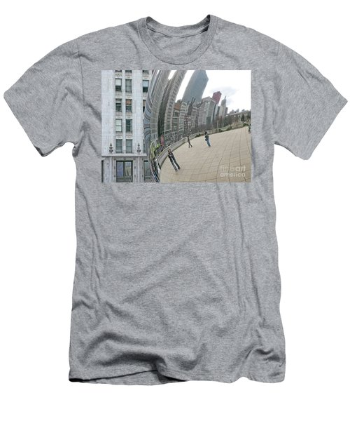 Men's T-Shirt (Slim Fit) featuring the photograph Imaging Chicago by Ann Horn