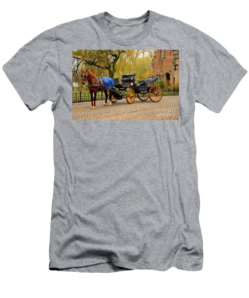 Immaculate Horse And Carriage Bruges Belgium Men's T-Shirt (Athletic Fit)