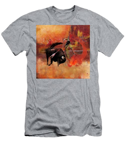 Impressionistic Bullfighting Men's T-Shirt (Athletic Fit)