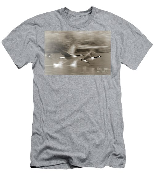 In A Blur Of Feathers Men's T-Shirt (Athletic Fit)