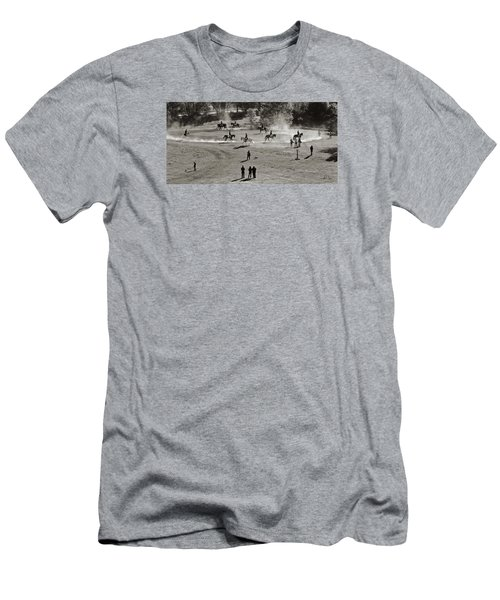 Men's T-Shirt (Slim Fit) featuring the photograph In The Warm Up by Joan Davis