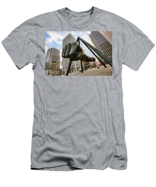 In Your Face -  Joe Louis Fist Statue - Detroit Michigan Men's T-Shirt (Athletic Fit)
