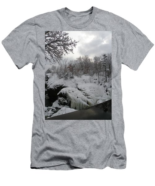 Indian Leap In Winter Men's T-Shirt (Athletic Fit)