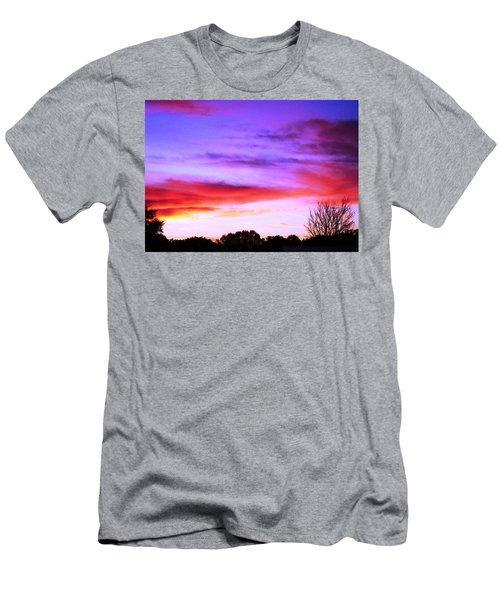 Indian Morning Sky Men's T-Shirt (Slim Fit) by Belinda Lee