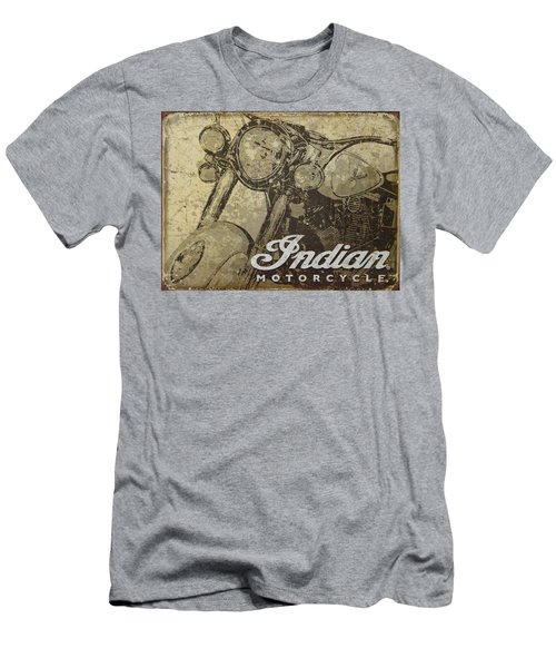 Indian Motorcycle Poster Men's T-Shirt (Athletic Fit)