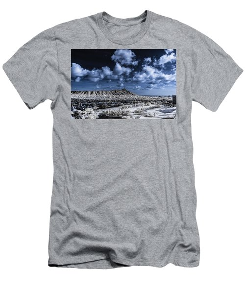 Infrared Diamond Head Men's T-Shirt (Athletic Fit)