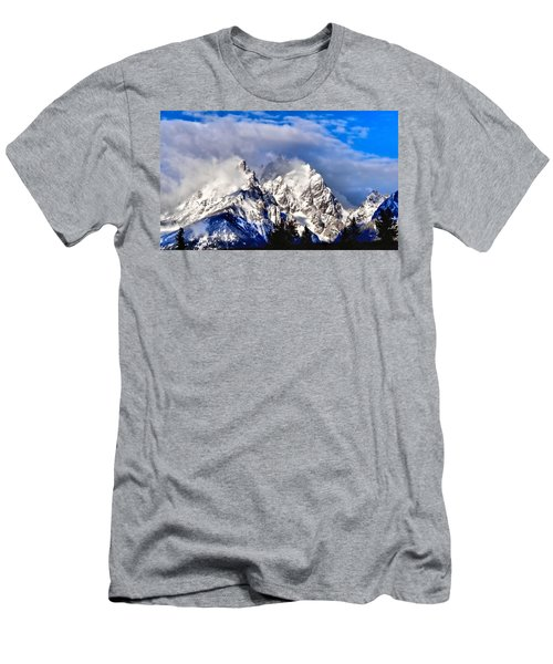 Teton Mountains In The Clouds Men's T-Shirt (Athletic Fit)