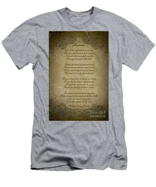 Invictus By William Ernest Henley Men's T-Shirt (Slim Fit) by Olga Hamilton