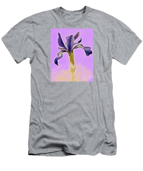 Iris On Lilac Men's T-Shirt (Athletic Fit)
