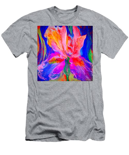 Funky Iris Flower Men's T-Shirt (Athletic Fit)