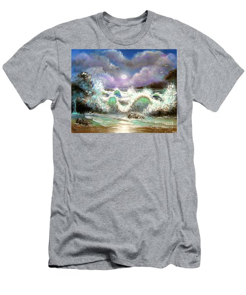 Men's T-Shirt (Slim Fit) featuring the painting Irresistible Force  by Patrice Torrillo